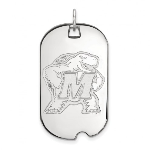 Maryland Terrapins Sterling Silver Large Dog Tag