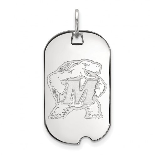 Maryland Terrapins Sterling Silver Small Dog Tag