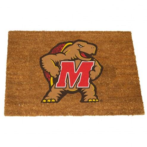 Maryland Terrapins Colored Logo Door Mat