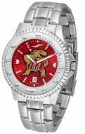 Maryland Terrapins Competitor Steel AnoChrome Men's Watch