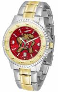 Maryland Terrapins Competitor Two-Tone AnoChrome Men's Watch