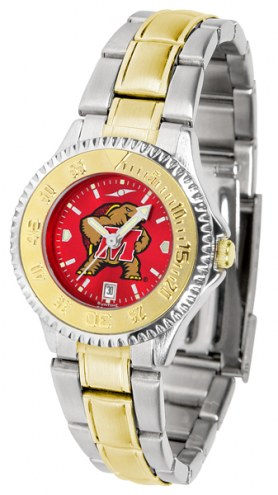 Maryland Terrapins Competitor Two-Tone AnoChrome Women's Watch