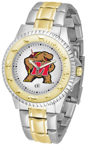 Maryland Terrapins Competitor Two-Tone Men's Watch