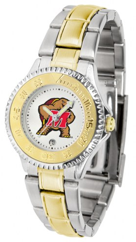 Maryland Terrapins Competitor Two-Tone Women's Watch