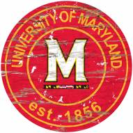 Maryland Terrapins Distressed Round Sign