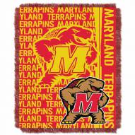 Maryland Terrapins Double Play Woven Throw Blanket