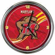 Maryland Terrapins Dynamic Chrome Clock