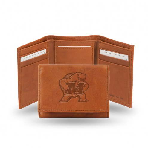Maryland Terrapins Embossed Tri-Fold Wallet