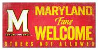 Maryland Terrapins Fans Welcome Sign