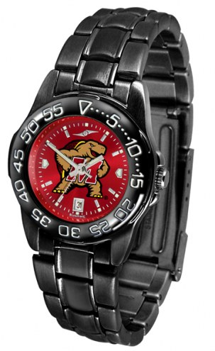 Maryland Terrapins Fantom Sport AnoChrome Women's Watch