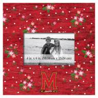"""Maryland Terrapins Floral 10"""" x 10"""" Picture Frame"""