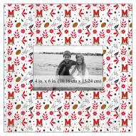 """Maryland Terrapins Floral Pattern 10"""" x 10"""" Picture Frame"""