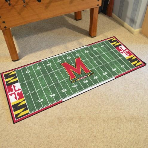 Maryland Terrapins Football Field Runner Rug