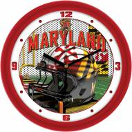 Maryland Terrapins Football Helmet Wall Clock