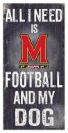 Maryland Terrapins Football & My Dog Sign