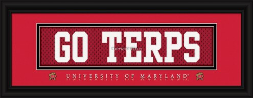 """Maryland Terrapins """"Go Terps"""" Stitched Jersey Framed Print"""