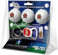 Maryland Terrapins Golf Ball Gift Pack with Key Chain