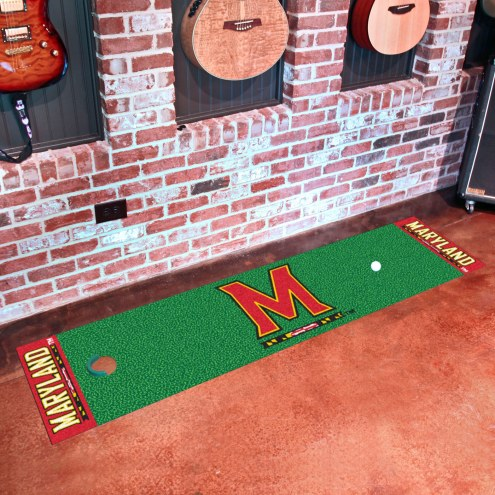 Maryland Terrapins Golf Putting Green Mat