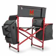 Maryland Terrapins Gray/Red Fusion Folding Chair