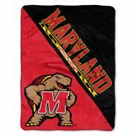 Maryland Terrapins Halftone Raschel Blanket