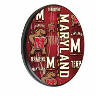 Maryland Terrapins Digitally Printed Wood Sign
