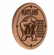 Maryland Terrapins Laser Engraved Wood Sign