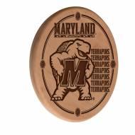 Maryland Terrapins Laser Engraved Wood Sign