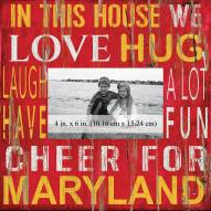 """Maryland Terrapins In This House 10"""" x 10"""" Picture Frame"""
