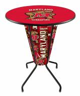 Maryland Terrapins Indoor Lighted Pub Table