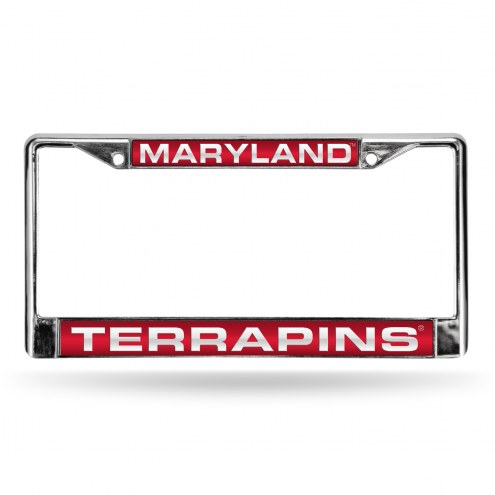 Maryland Terrapins Laser Chrome License Plate Frame