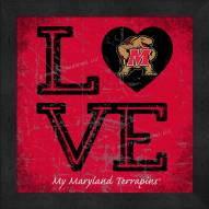 Maryland Terrapins Love My Team Color Wall Decor