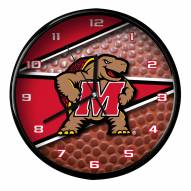 Maryland Terrapins Football Clock