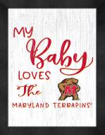 Maryland Terrapins My Baby Loves Framed Print