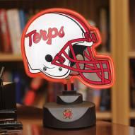Maryland Terrapins Neon Helmet Desk Lamp