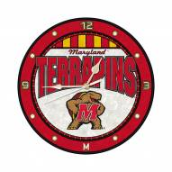 Maryland Terrapins NCAA Stained Glass Wall Clock