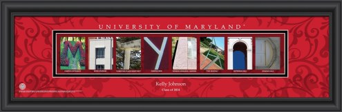 Maryland Terrapins Personalized Campus Letter Art