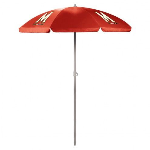 Maryland Terrapins Red Beach Umbrella