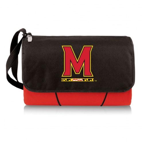 Maryland Terrapins Red Blanket Tote