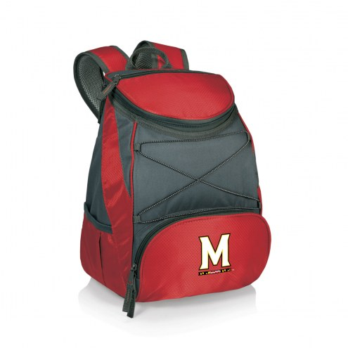Maryland Terrapins Red PTX Backpack Cooler