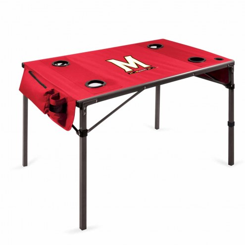 Maryland Terrapins Red Travel Table
