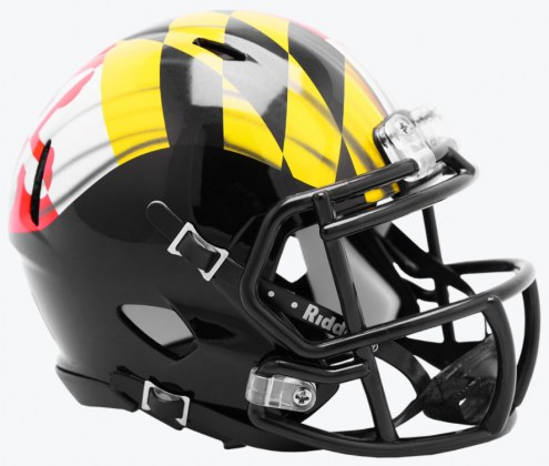 Maryland Terrapins Riddell Speed Mini Collectible Pride Football Helmet