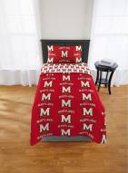 Maryland Terrapins Rotary Twin Bed in a Bag Set