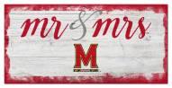 Maryland Terrapins Script Mr. & Mrs. Sign