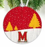 Maryland Terrapins Snow Scene Ornament
