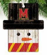 Maryland Terrapins Snowman Ornament