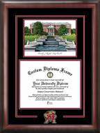 Maryland Terrapins Spirit Diploma Frame with Campus Image