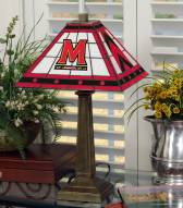 Maryland Terrapins Stained Glass Mission Table Lamp