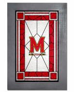 Maryland Terrapins Stained Glass with Frame