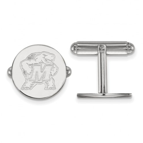 Maryland Terrapins Sterling Silver Cuff Links