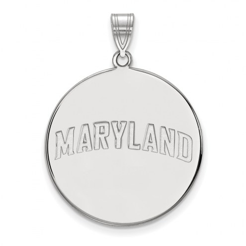 Maryland Terrapins Sterling Silver Extra Large Disc Pendant